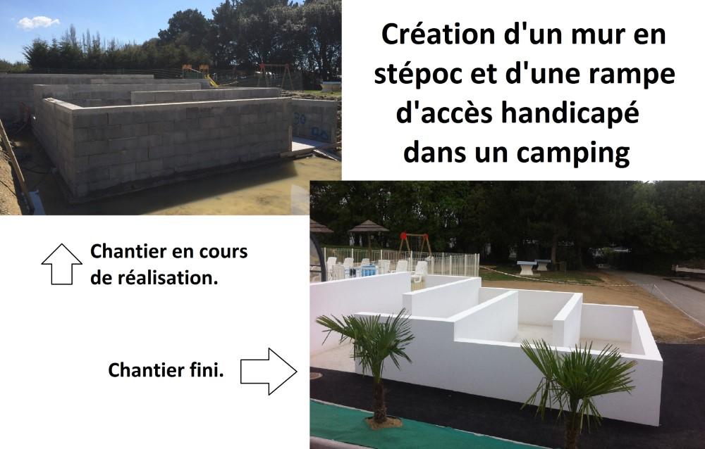BATIMENT VALLEE MACON LA BAULE Camping Pouldroit Mur Et Rampe D'accès 149